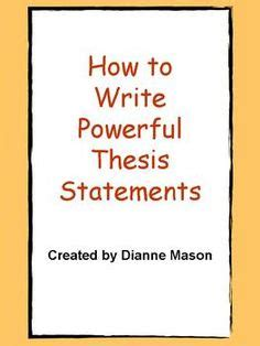 How to Write a Thesis for a Narrative Essay Synonym